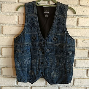 Baby It's Cold! ADD A LAYER Embroidered Blue Vest